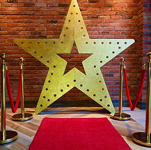 Large Gold Glitte Star Props for Parties