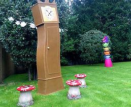 Alice in Wonderland Crooked Clock and Mu