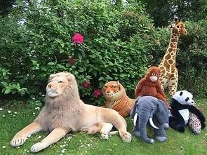 Large Plushy Jungle Animals