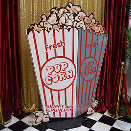 Giant Popcorn Bucket Prop Hire
