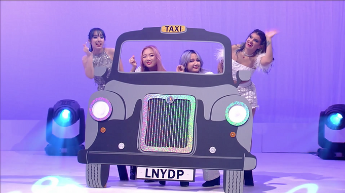 London Taxi Video Prop with Pop Group, K