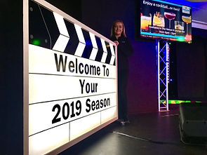 Giant Light up Clapperboard Prop Hire