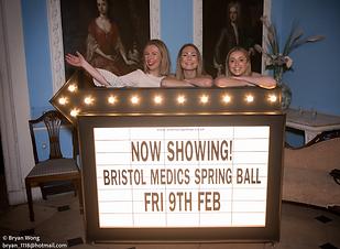 Bristol Medics Ball Cinema Sign