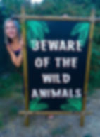Welcome to The Jungle Sign Hire