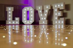 LOVE Letter Lights Cardiff
