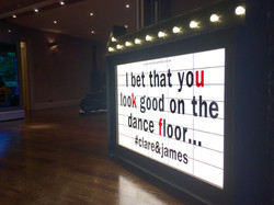 I bet you look good on the dance floor sign
