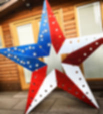 Giant American Flag Star Prop