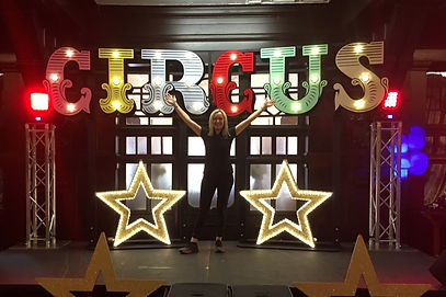 Circus Sign with Light up Stars
