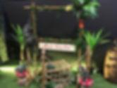 Dinosaur Garden Party Frame for Photos