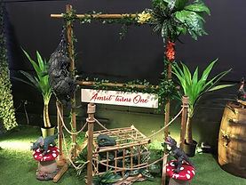 Dinosaur Garden Party Frame for Photos