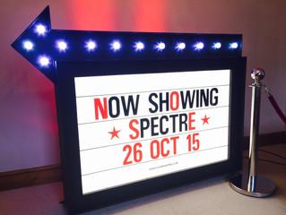 BRAND NEW PROP: Cinema Sign Prop Hire