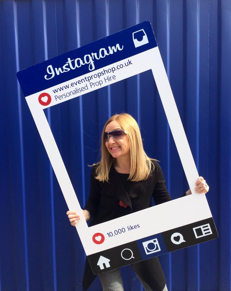 Personalised Instagrma Frame Prop Hire