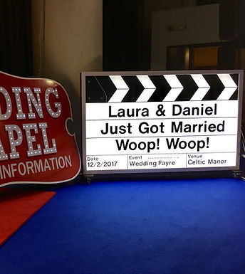 Giant Light up Hollywood Clapper Board