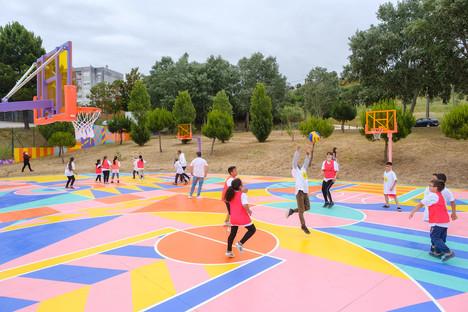 Informação à População- Inauguração dos campos de minibasquetbol no Vale da Ameixoeira.