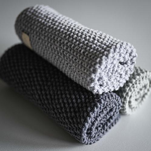 Steel Blue Cotton Washcloth