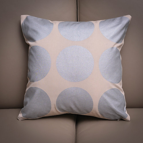 Silver Circles Cushion