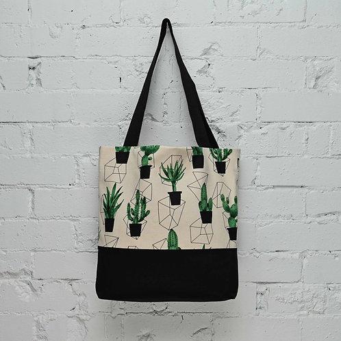 Cactus Pocket Tote - Cream