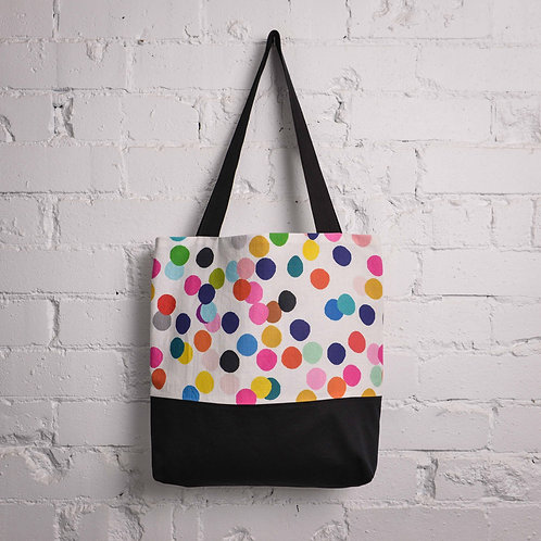 Confetti Pocket Tote - Black