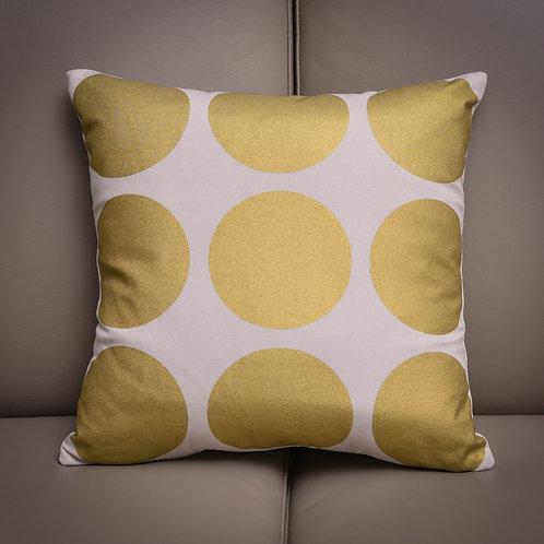 Gold Circles Cushion