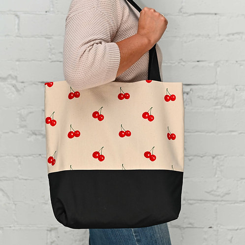 Cherries Tote Bag + Pouch bundle