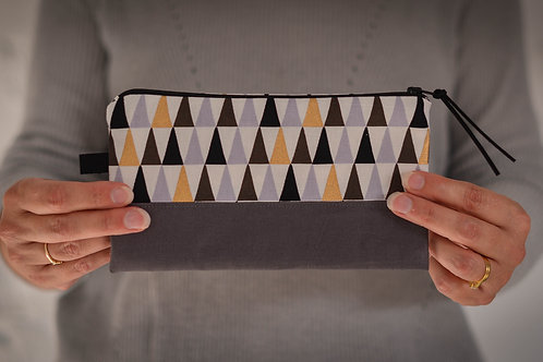 Cotton + Wood Zippered Pouch