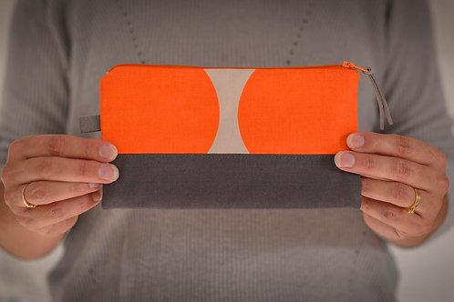 Orange Circles Zippered Pouch