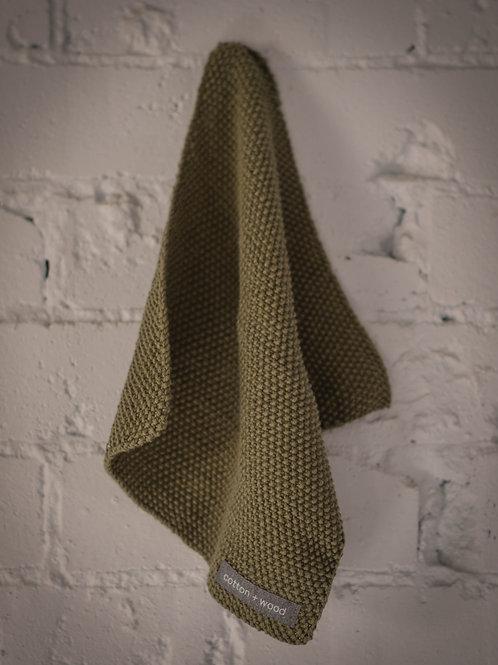 Khaki Cotton Washcloth