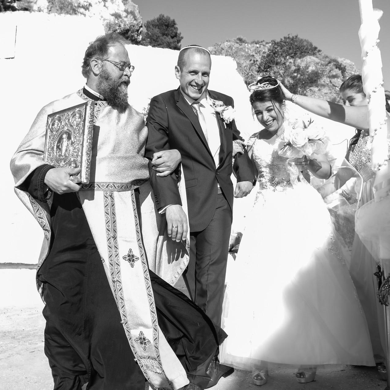 Priest leading the ceremonial walk