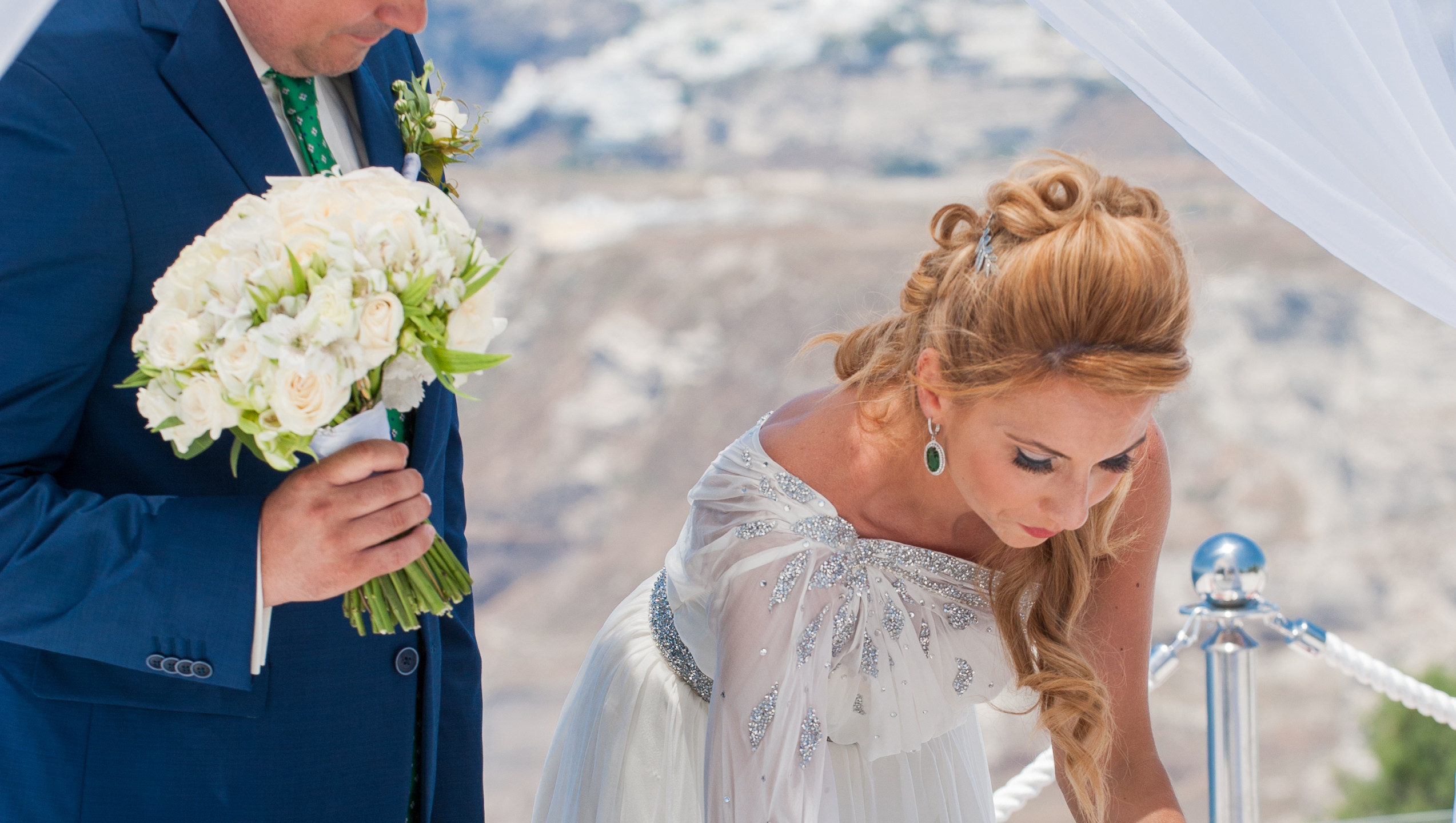 Mr & Mrs wedding in Greece
