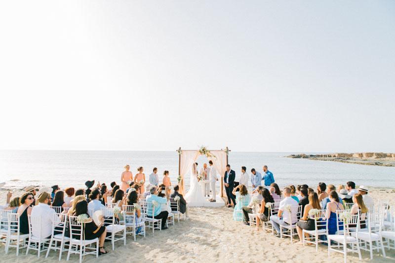 Beach wedding in Chania Crete