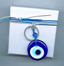 Bad eye charm on a favour gift box