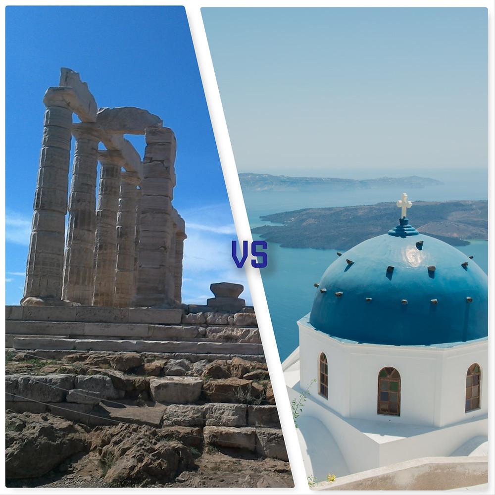Athens wedding vs Santorini wedding image