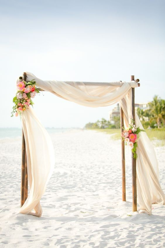 Decorate Wooden Altar On The Beach