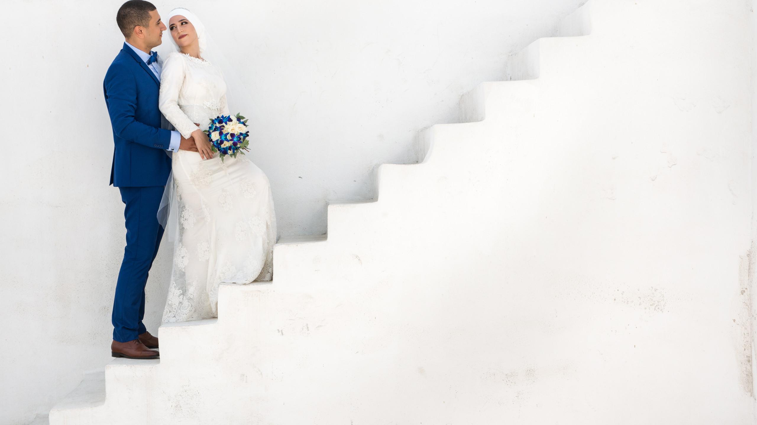 Total white santorini wedding