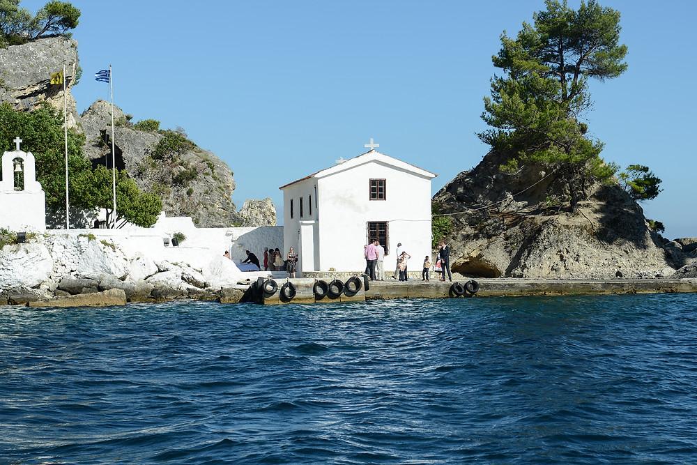 Panagitsa Church on the rock island of Parga