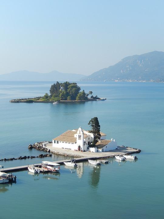 The Vlacherna Monastery Corfu