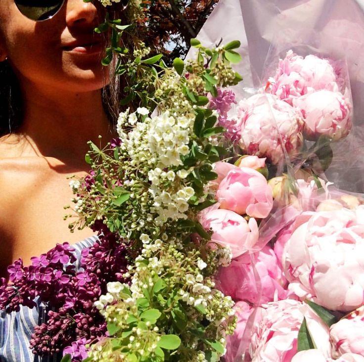 Purple pink flower arrangement