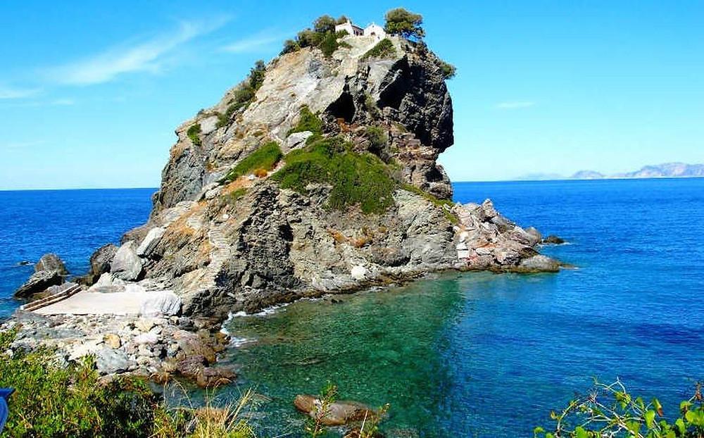 Greek Wedding Skopelos the church of Agios Ioannis of the Mamma Mia film