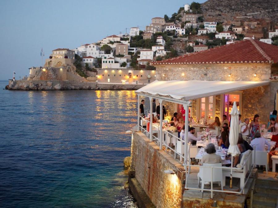 Destination wedding Hydra island Greece