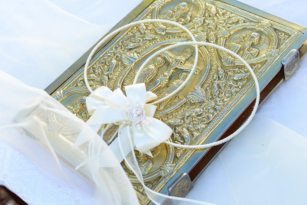 Greek Orthodox Wedding crowns and gospel