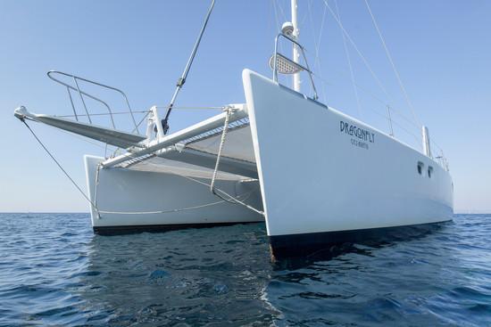yacht contre plongée