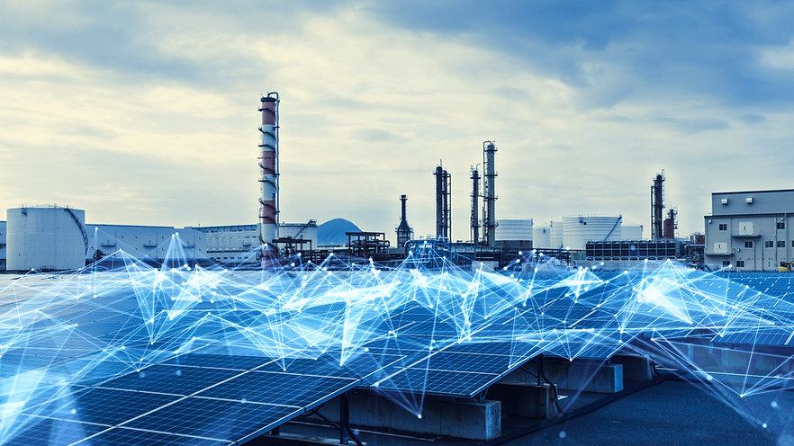 Smart factory concept. Communication net