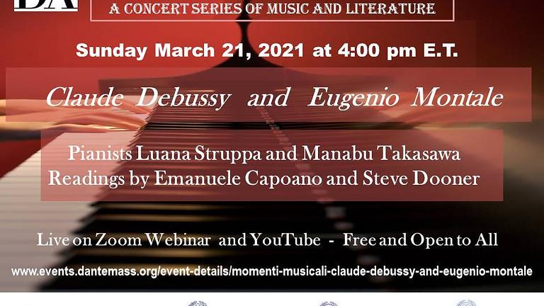 Momenti Musicali: Claude Debussy and Eugenio Montale