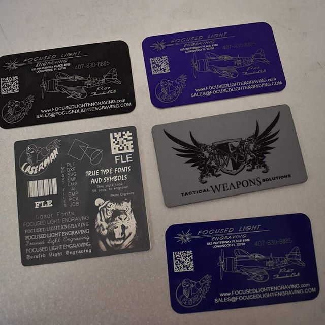 We can do high detail engraving business cards!