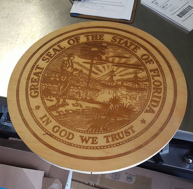 Laser engraved wood plaque-- 20_ circle