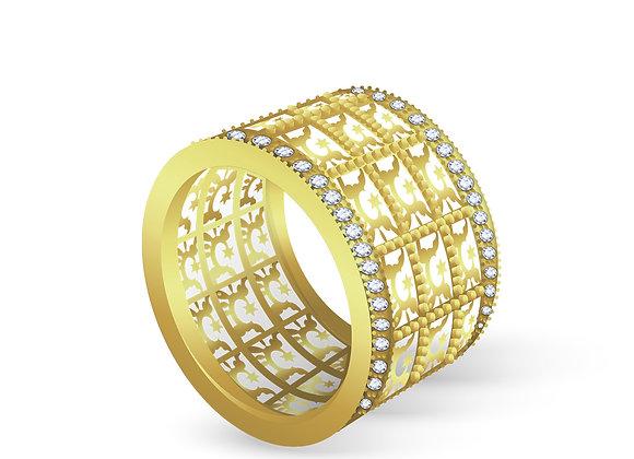 Golden Hoop Ring