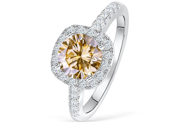 Champagne Cushion Engagement Ring