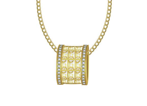 Golden Hoop Necklace