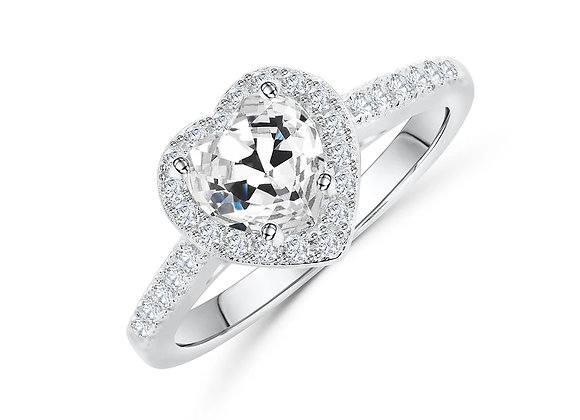 Heart-Shaped Engagement Ring