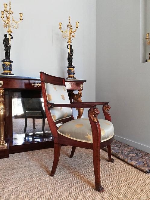 Jacob Desmalter : fauteuil d'époque Empire